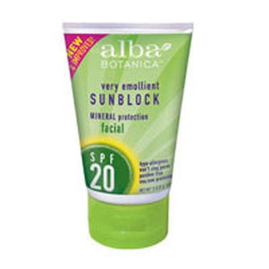Mineral Sunscreen Facial Spf 20 4 oz By Alba Botanica