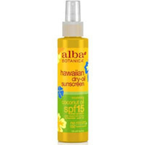 Hawaiian Dry Tanning Oil Coconut with SPF15 4.5 oz By Alba Botanica