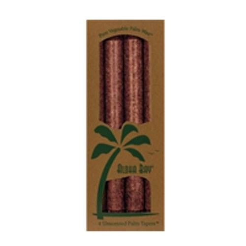 Candle 9 Inch Palm Taper Charcoal 4 pack By Aloha Bay