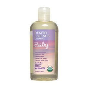 Cuddle Buns Softening Body and massage oil 4 oz By Desert Essence