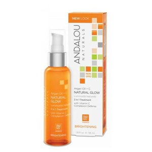 Argan + Omega Natural Glow 3 in 1 Treatment 1.9 oz By Andalou Naturals