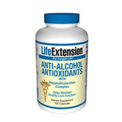 Anti Alcohol Antioxidants with HepatoProtection Complex 60 caps By Life Extension
