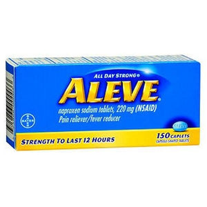 Aleve All Day Strong Pain Reliever Fever Reducer 150 Caplets By Aleve
