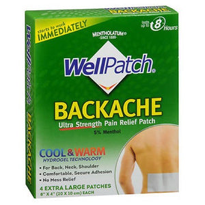 Wellpatch Backache Pain Relief Patch Extra Large 4 each By Wellpatch