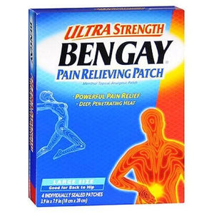 Bengay Pain Relieving Patches 4 each (Large) By Bengay
