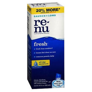 Bausch And Lomb Renu Fresh Multi-Purpose Contact Lens Solution No Rub Formula 12 oz By Bausch And Lomb