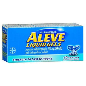 Aleve All Day Strong Pain Reliever And Fever Reducer 40 Liqui Gels By Aleve
