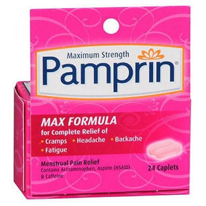 Pamprin Maximum Strength Pain Releif Caplets 24 each By Pamprin