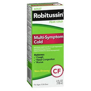 Robitussin Adult Multi-Symptom Cold Peak Cold Liquid 4 oz By Advil