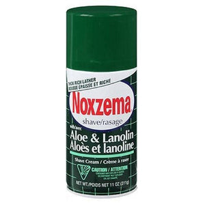 Noxzema Shave Cream Aloe and Lanolin 11 oz By Noxzema