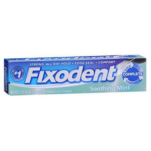 Fixodent Denture Adhesive Cream Mint Soothing Mint, 2.2 oz By Procter & Gamble