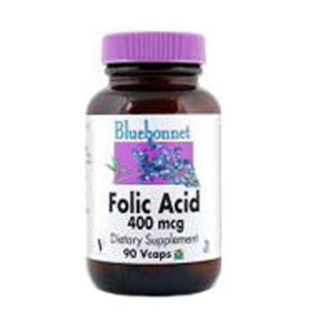 Folic Acid 180 Veg Caps By Bluebonnet Nutrition