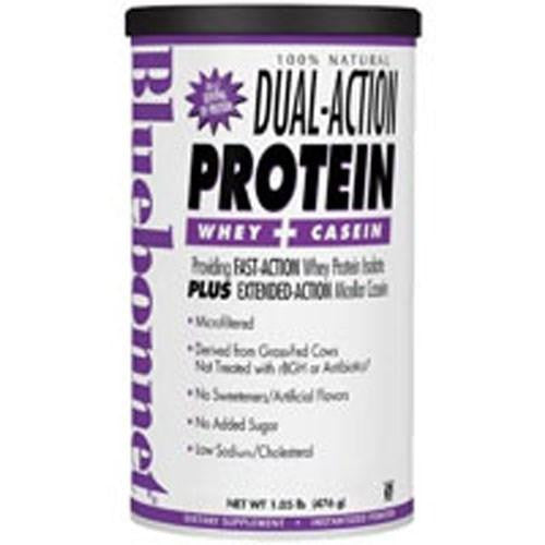 100% Natural Dual Action Protein Powder - Natural Strawberry Flavor 2.1 lbs