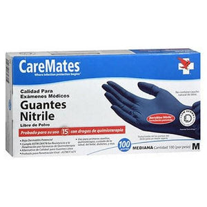 Caremates Nitrile-Pf Examination Gloves Medium 100 each By Caremates