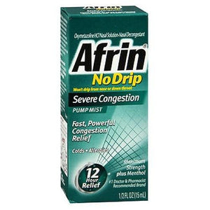 Afrin No Drip Pump Mist Severe Congestion 0.5 oz By Afrin