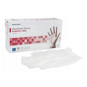 Synthetic Vinyl Gloves Powder Free Large 100 each By Cypress Medical Products