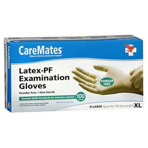 Caremates Latex-Pf Examination Gloves XL, 100 Each By Caremates