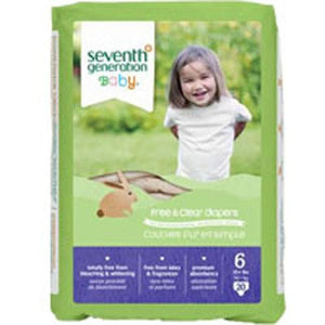 Free and Clear Baby Diapers Stage 6, 20 CT(case of 4) By Seventh Generation