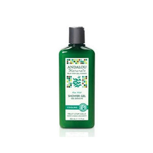 Shower Gel Cooling Aloe Mint 11 oz By Andalou Naturals