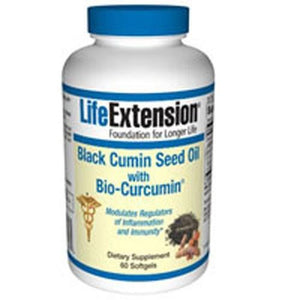 Black Cumin Seed Oil With Bio Curcumin 60 softgel By Life Extension