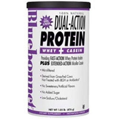 100% Natural Dual Action Protein Powder - Natural French Vanilla Flavor 1.1 oz