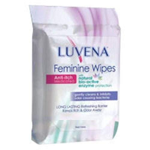 Anti-Itch Medicated Feminine Wipes 25 COUNT By Luvena