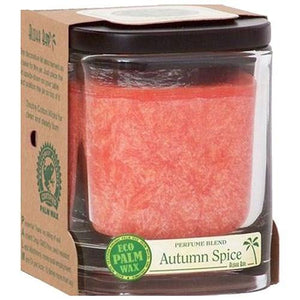 Eco Palm Square Jar Autumn Spice Burnt Orange 8 oz By Aloha Bay