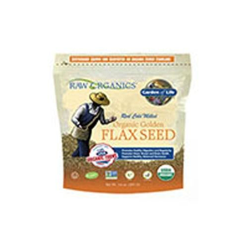 RAW Organics Organic Ground Flax Seeds 14 Oz(case of 6) By Garden of Life