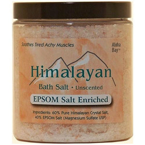 Bath Salt 40% Epsom 24 oz By Aloha Bay
