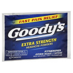 Goody's Pain Reliever Extra Strength Headache Powders 6 Each By Med Tech Products