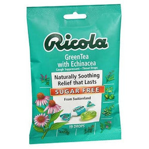 Cough Suppressant Throat Drops Green Tea with Echinacea Sugar Free 19 Each By Ricola