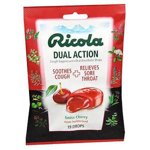 Dual Action Drops 19 Each, Cherry By Ricola