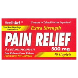 Pain Relief 500 mg 40 Caplets By A&Z Pharmaceutical