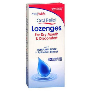 Oral Relief Lozenges 40 Each, Ruby Raspberry By MedActive