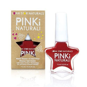 Pinki Naturali Nail Polish Nashville Red 0.27 Oz By Lunastar