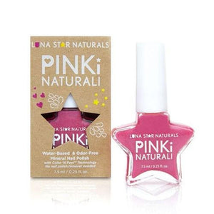 Pinki Naturali Nail Polish Denver Hot Pink 0.27 Oz By Lunastar