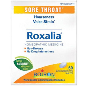 Roxalia Sore Throat 60 Tabs By Boiron