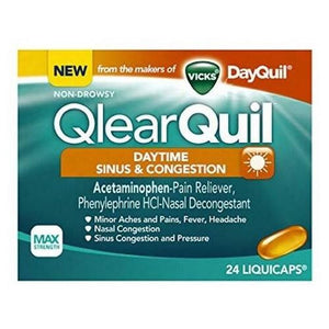 QlearQuil Sinus & Congestion LiquiCaps Daytime 24 Liqui Caps By Procter & Gamble