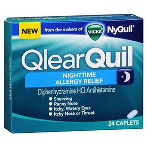 QlearQuil Nighttime Allergy Relief Caplets 24 Caplets By Procter & Gamble