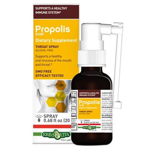 Propolis Esvp Throat Spray .68 Oz By Erba Vita