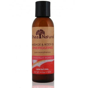 Energizing Massage & Body Oil Grapefruit Pomelo 4 Oz By Shea Natural