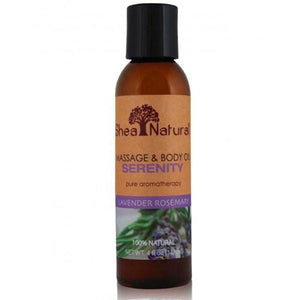 Serenity Massage & Body Oil Lavender Rosemary 4 Oz By Shea Natural