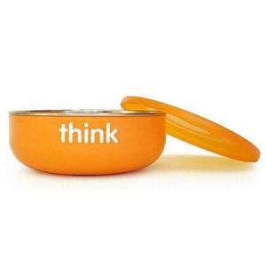 Baby Bowl Low Wall Orange 1 Count By Thinkbaby