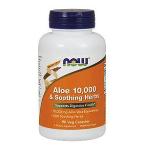 Aloe 10,000 & Soothing Herbs 90 Veg Capsules By Now Foods