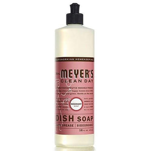 Dish Soap Rosemary 16 oz(case of 6) By Mrs Meyers