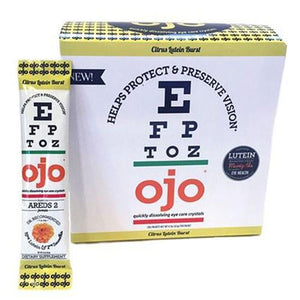 Eye Care Crystals Citrus Lutein Burst 30 Packets By OJO Fortified Eye Care Nectar