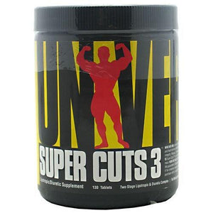 SUPER CUTS 3 130 Tabs By Universal Nutrition