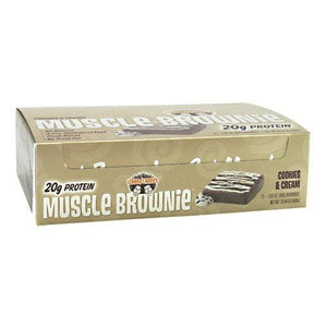 Muscle Brownie Cookie & Cream 2.82 oz (Pack of 12) By LENNY & LARRY