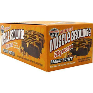 Muscle Brownie Peanut Butter 2.82 oz(Pack of 12) By LENNY & LARRY