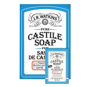 Castile Bar Soap Peppermint 8 oz By J R Watkins